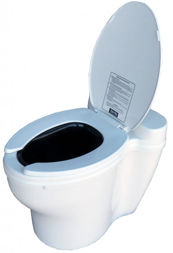 Sun Mar Elongated Dry Toilet For Centrex Composting Toilet